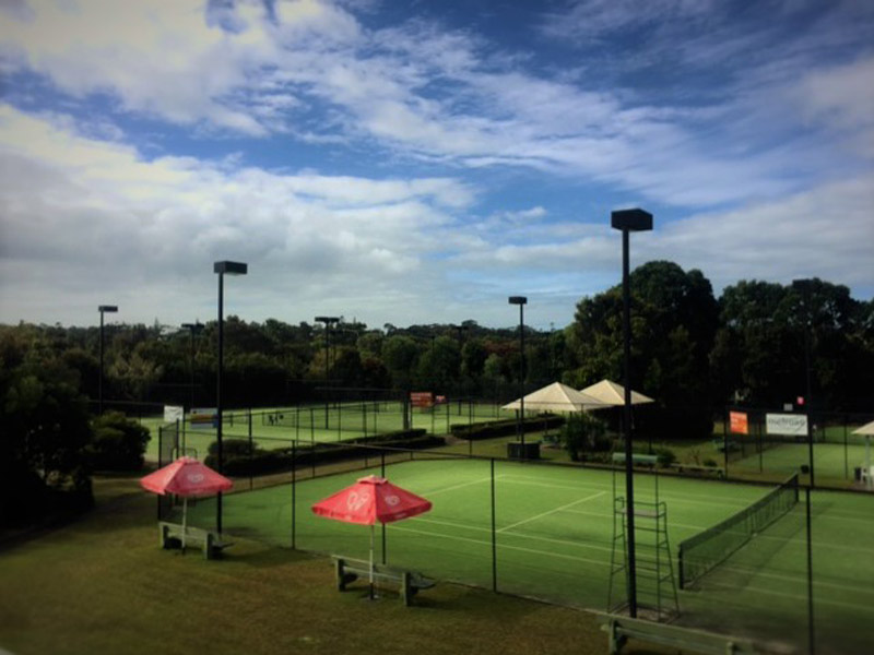 noosa tennis court hire