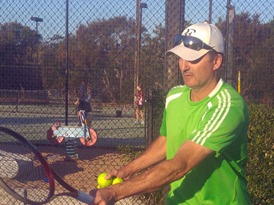 Nick tennis coach